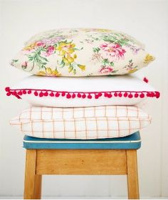 Selina Lake homespun style cushions