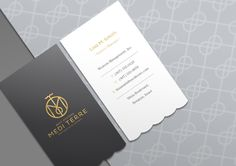 Medi Terre A Luxury Boutique Hotel On The Mediterranean Business Card Branding And Graphics Created By HBA