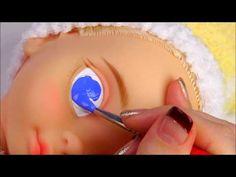 ★베이비돌 리페인팅!!신데렐라~★Repainting Disney Animators' Collection Doll Cinderella/ディズニーのプリンセスベビー・ドール - YouTube