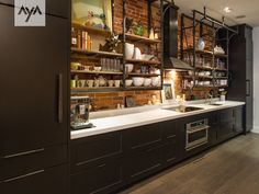 AyA Kitchens | Canadian Kitchen and Bath Cabinetry Manufacturer | Kitchen Design Professionals - Arlington & Manhattan Pitch Black in Transitional Transitional