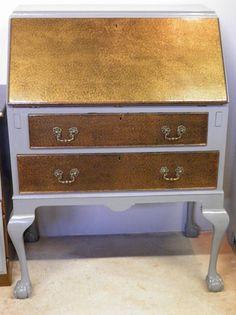 Vintage Upcycled Mahogany Bureau / Writing Desk