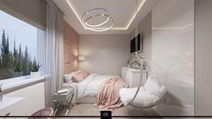 Projekt wnętrza naszej pracowni - pokój nastolatki w kolorach ciepłego różu i beżu, styl bardzo glamour :)