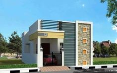 733 Sq feet 2 BHK Independent House is part of Single floor house design - House Front Wall Design, House Outer Design, Single Floor House Design, Modern Small House Design, House Outside Design, Village House Design, Kerala House Design, Home Design, Design Ideas