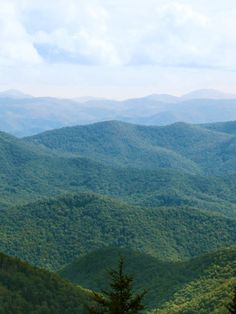 The Great Smoky Mountains in North Carolina