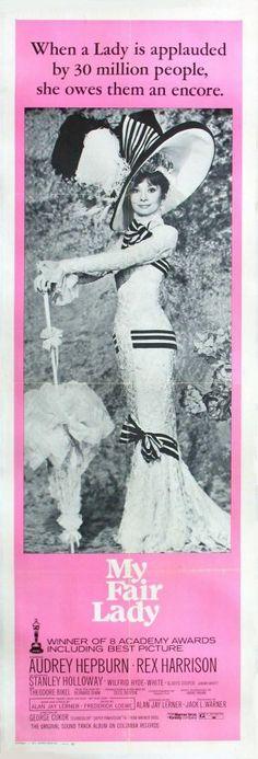 *MY FAIR LADY, movie poster ~ Audrey Hepburn