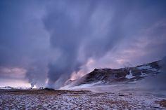 Geothermal area in Námaskarð, Iceland