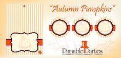 """Autumn Pumpkins"" Printables"
