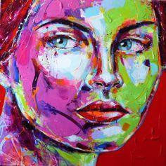 Peintre portraitiste contemporain Berto Artist At Work, Portraits, Les Oeuvres, Contemporary Art, Coups, Mosaics, Painting, Fictional Characters, Artists