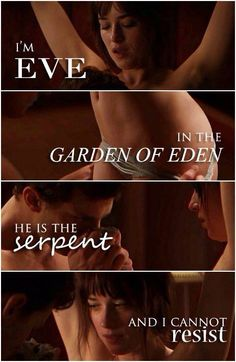 "Garden of Eden:  ""I'm #Eve in the #Garden of #Eden. He is the #Serpent, and I cannot resist."""