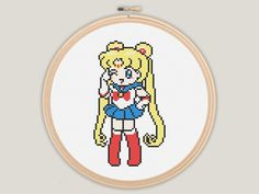 Sailor Moon Cross Stitch - PATTERN