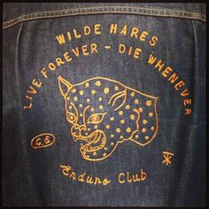 Past Work - Fort Lonesome Chain Stitch Embroidery, Embroidery Stitches, Grounded For Life, Working Blue, Embroidered Denim Jacket, Graphic Patterns, Shirt Jacket, Slogan, Louis Vuitton Monogram