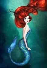 Little Mermaid Ariel Art - Fairytale Fantasy Painting Wall Art - Ocean Painting