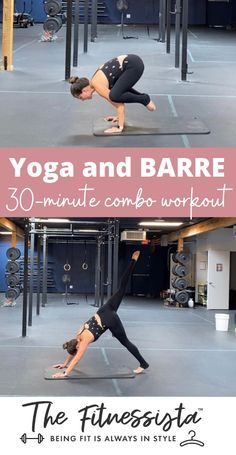 This barre and yoga combo class will make you break an awesome sweat in 30 minutes. You can do this workout anywhere; all you need is your own body weight and a mat. Pin this for a low-impact and challenging workout! | Barre Workouts | The Fitnessista Full Body Workout Routine, Workout Routines For Beginners, Workout Schedule, Workout Videos, Best At Home Workout, At Home Workouts, Barre Workouts, Card Workout, Dumbbell Workout