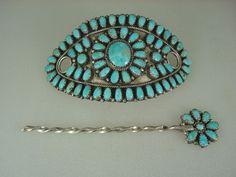 Vintage Hair Ornament by  Lura Moses Begay, Navajo