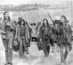 AIM activists on Pine Ridge Reservation February 1973