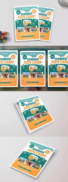 Summer Kids Camp Flyer Template PSD