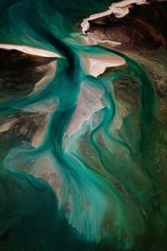 Shark Bay : bancs de sable dans la baie de L'Haridon Bight, péninsule Peron, Australie-Occidentale - Ph. Yann Arthus-Bertrand