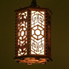 Laser cut light