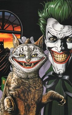 grinning cat, grinning Joker