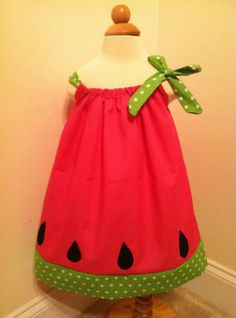 Watermelon Dress  Made to Your Size by adstorey on Etsy, $25.00