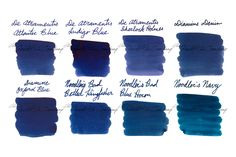 Looking for a professional fountain pen ink that is still fun? Try our Ink Sample Package in Dark Blue! It features 2ml samples of 8 of our most popular dark blue fountain pen ink colors. Offered at a discount! Pin for later.