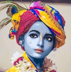 Radha Krishna Holi, Radha Krishna Quotes, Radha Krishna Images, Krishna Art, Krishna Painting, Little Krishna, Cute Krishna, Hare Krishna Mantra, Iskcon Krishna