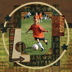 soccer scrapbook pages   Scrapbook Kit~ 10pc~ Soccer Bo Bunny~ Futbol Collection Scrapbook ...