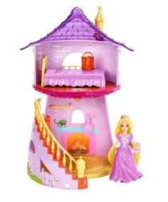 Amazon.com: Disney Princess Little Kingdom MagiClip Rapunzel Playset: Toys & Games