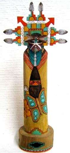 "13"" Hopi Carved Butterfly Maiden Kachina Doll Sculpture by Lauren Honyouti"