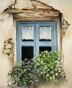 Marie-Claire Houmeau Old Blue window