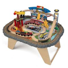 KidKraft Lego Compatible 2 In 1 Activity Table | Train Set And Table |  Pinterest | Lego, Activities And Train Set