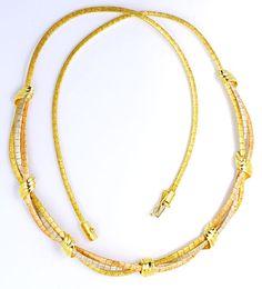 Foto 2, Goldkollier Goldarmband, Gelbgold Weissgold Rotgold 14K, K2203