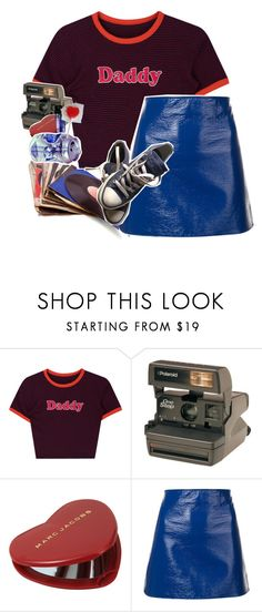 """Arcade Babe + The List Tag"" by sparkling-oceans ❤ liked on Polyvore featuring Polaroid, Marc Jacobs, Courrèges, Converse and vintage"