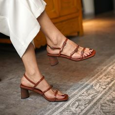 Women's Shoes Sandals, Strappy Sandals, Only Shoes, Thick Heels, Designer Sandals, Summer Shoes, Me Too Shoes, Fashion Shoes, Flip Flops
