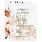 Rustic Floral Terracotta Elegant Wedding Rehearsal Invitation Wedding Rehearsal Invitations, Beautiful Wedding Invitations, Chic Wedding, Elegant Wedding, Elegant Chic, Wedding Thank You Cards, Round Stickers, Stationery, How Are You Feeling