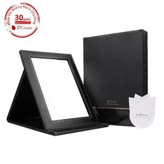 Amazon.com : DUcare(TM) Black Folding Mirror, Professional Design Multi-used Makeup Mirror with Leather Case : Beauty