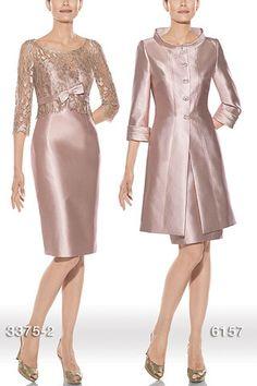 vestido corto con manga de chantilly