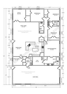 30 Barndominium Floor Plans for Different Purpose | Barn House ...