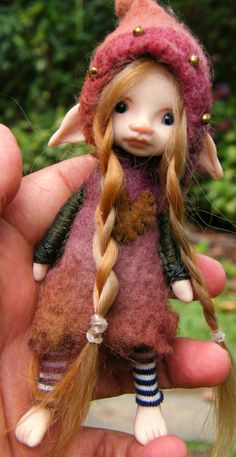 5 inch fae made with love dressed in felts xo
