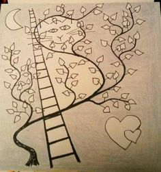 Cat in the Tree Pencil , Fineliner on Paper