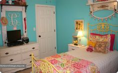{Northern Cottage} Quilt in Delighful Girls Room ♥