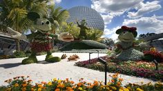 Disney Characters made from plants at Epcot