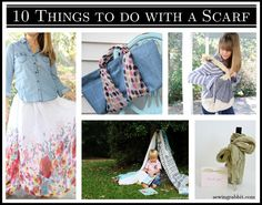 DIY: 10 Things To Do With a Scarf || The Sewing Rabbit