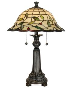 Dale Tiffany 23 in. Mica Bronze Donavan Table Lamp with Tiffany Art Glass - The Home Depot Tiffany Art, Tiffany Glass, Tiffany Style Table Lamps, Stained Glass Lamps, Room Lamp, Desk Lamp, A Table, Glass Table, Iron Table