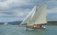 Traditional wooden boat at the Wooden Boat Festival in Baltimore, Ireland June 2014