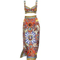dolce-and-gabbana-summer-2016-women-fashion-show-runway-54-zoom.png... ❤ liked on Polyvore featuring dresses