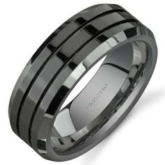 Beveled Edge Double Groove 8 mm Comfort Fit Mens Black Tungsten Wedding Band Ring Size 8 Peora,http://www.amazon.com/dp/B004DWYAIO/ref=cm_sw_r_pi_dp_m03Nrb88857F429E