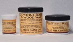 Soapstone sealer and wood wax- made of walnut oil and T 1 Carnauba Wax flakes