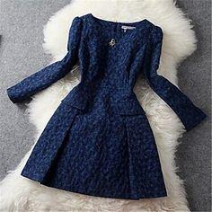 Women s Vintage Print Slim Dress Little Dresses 4742d2f5d205