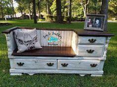 Items similar to Dresser Bench/Entry Table on Etsy - Diy Möbel Diy Dresser Makeover, Furniture Makeover, Dresser Makeovers, Dresser Ideas, Furniture Projects, Diy Furniture, Furniture Websites, Furniture Dolly, Home Decor Ideas